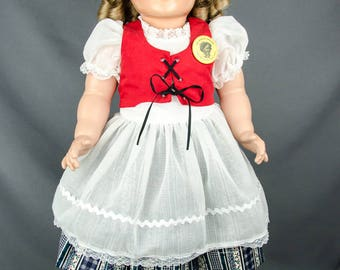 """24"""" Large 1984 Romans Shirley Temple Doll Vintage"""