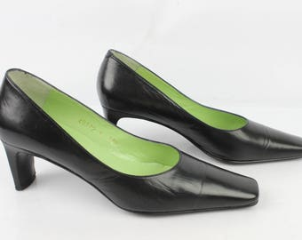 Vintage VICTORIA pumps all leather black Uk 5.5 / Fr 38.5 very good condition (3135)