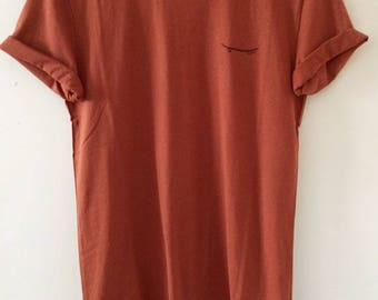 Burnt orange short sleeve - Sk8ter boi t-shirt sweater