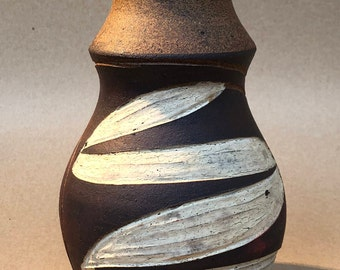 Ceramic Vase // Stoneware Vintage Vase // Handmade Pottery