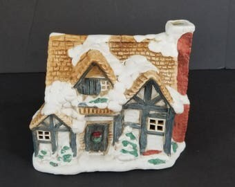 Vintage Dickens Cottage Rainbowman Intl William Beckett 1987 Holiday Christmas