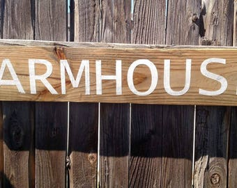 Farmhouse Salvaged Wood Sign
