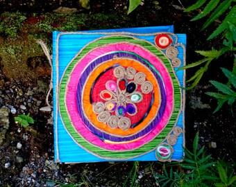 Rustic Faery Journal/ Handmade Journal/ Book Of Shadows/ Journal Notebook