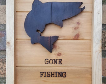 Gone Fishing Wall hanging