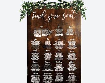 Wedding Seating Chart Sign - Wooden Wedding Signs - Wooden Wedding Seating Chart - Wood - Wedding Sign