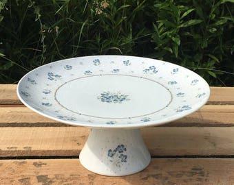 Vintage Fine Porcelain Shafford Pedestal Cake Stand