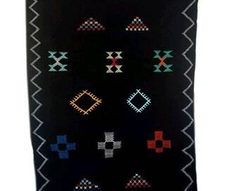 "Tapie  Sabra soie, tapis Cactus marocain,tapie berbère moderne,tapis marocain,soie de cactus,kilim de soie , 154cm/96cm (38 ""x 61"")."