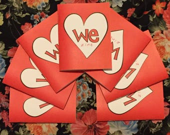 7-Pack: WeZine Issue 1 - Zine, Spread Love, We Are Love, Love Me, Love You, Love Us, Love Them, Love We, Handmade, Share Love