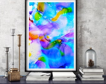 Living Room Decor, Abstract Art, Home Decor, Modern Art, Painting, Giclee Print, Wall Art