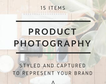 Custom Lifestyle Product Photography for Small Businesses, Makers and Retailers for 15 Products. Perfect for social media and e-commerce.