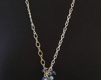 Vintage Chinese porcelain with watch chain and faceted beads