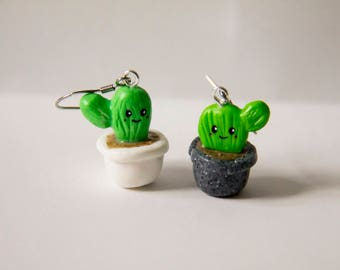 Cactus, Succulent, fimo, polymer clay, polymer clay, earrings, earrings, cute, girly, summer