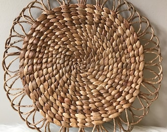 Woven Plate Charger or Wall Decor