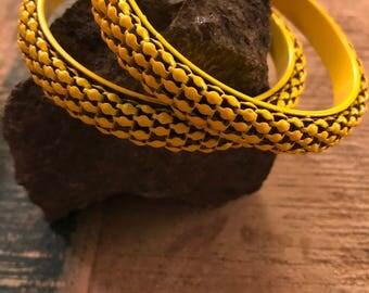 Two metal bangles