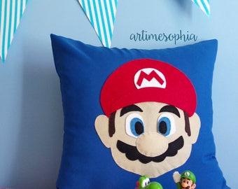 Pillow Super Mario Bros. Mario, Customize Pillow