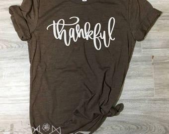 Thanksgiving Shirt, Thankful Shirt, Grateful, Blessed, Fall Shirt for Women, Thanksgiving Shirt, Fall Tshirt, Fall Shirt, UNISEX Graphic Tee