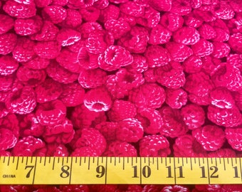 Timeless Treasures Raspberries C7749 Cotton Fabric By the Yard