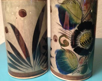 Mexican pottery tumblers