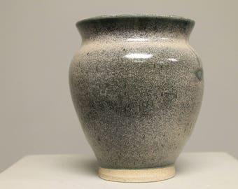 Beige Blue Vase