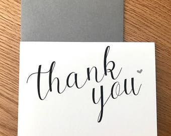 Thank You Card A6 - Available to purchase individually or multiple cards