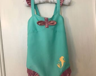 Little Mermaid Swimsuit with free monogram SUMMER SALE! Lowered price!!