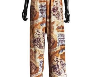 Fluid print pants