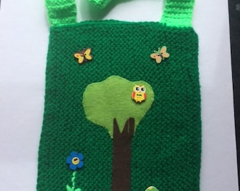 Forest Green Knitted Bag