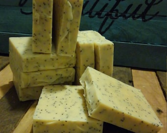 2-pack Exfoliating poppy seed goat milk soap handcrafted all natural