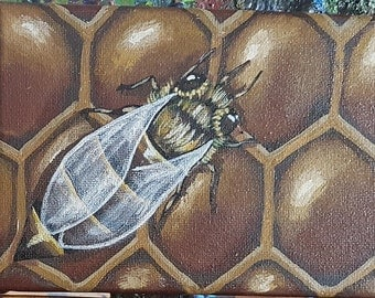 Honey Bee 2 Original Canvas Painting