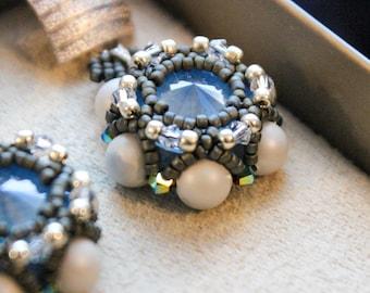Earrings.  Crystals Swarovski.