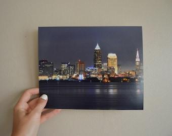 Night Skyline | Cleveland 8x10