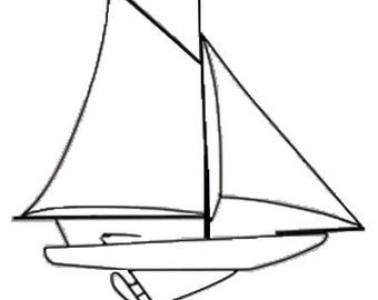 Wireart Sailboat Two