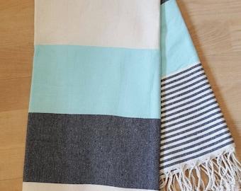 Turkish towel, Peshtemal , Navy Style Towels ,Peshtemal Towels, Hand woven Cotton Turkish Towels, Peshtemal towel, Fouta, Absorbent Towels