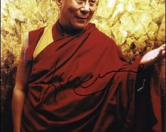 Dalai Lama signed autograph print