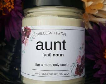 Tante Geschenke, Beste Tante Geschenke, Geschenke Für Tante, Kerze Mit  Botschaft, Tante