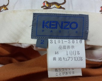 Vintage Authentic 90's [KENZO] Men's Tangeraine High Waist Pleated Pants W30 Made in Japan