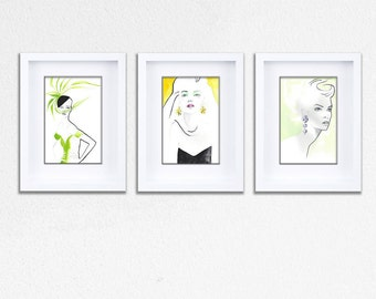 Citrus Squeeze Gift Pack of 3 Individually Framed Limited Edition Prints