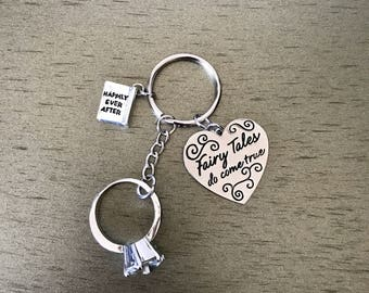 Fairytales do come true keychain