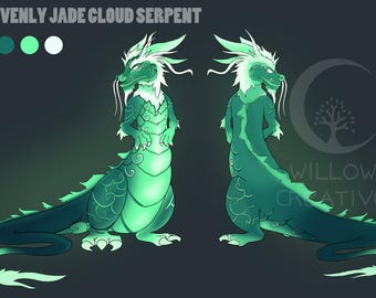 Cloud serpent art base for fursona