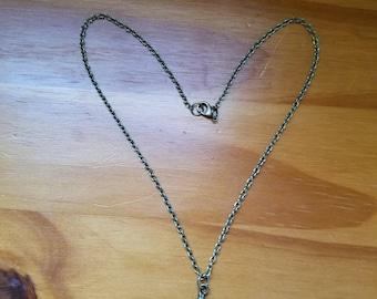 Bronze Wolf Necklace