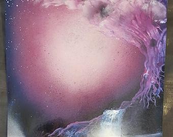"Cherry Blossom | 22"" x 15"" Spray Paint Art"