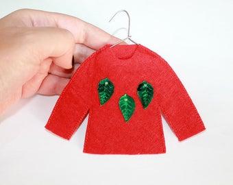 Christmas ugly sweater ornament christmas gift sweater ugly sweater party ugly christmas ornament ugly xmas sweater christmas tree ornament