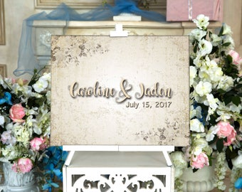 Canvas Guestbook Wedding Guest Book flower CANVAS Wedding Guest Book Canvas Guest book Alternative Wedding Guestbook Wedding Gift Home Decor
