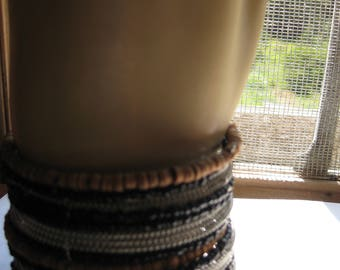 Tribal Look Coiled Wire Cuff Bracelet