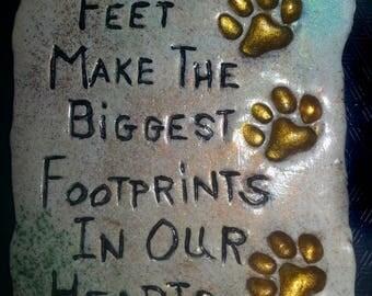 Littlest Feet Commemorative Plaque