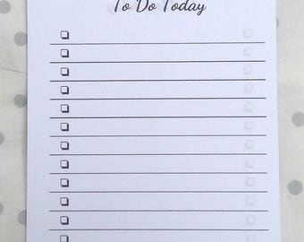 Cute mini to do list notebook