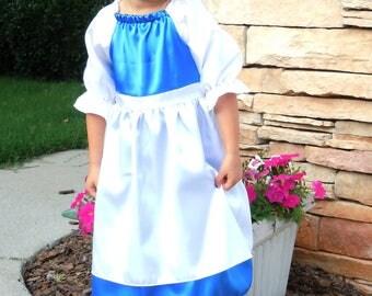 Belle dress blue provincial style