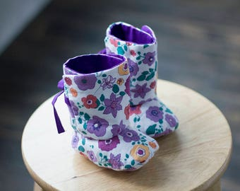 617 Reese Ribbon Baby Boots PDF Sewing Pattern