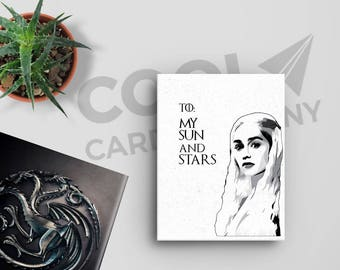 Daenerys Targaryen Game of Thrones Birthday Card, Mother of Dragons, Game of Thrones Anniversary Card, Khaleesi, Card for Boyfriend,