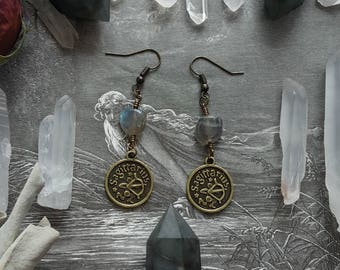 Eternal Wanderer Labradorite Sagittarius Earrings